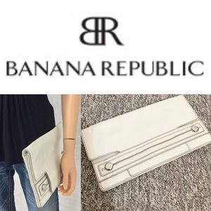 BANANA REPUBLIC Leather envelope clutch